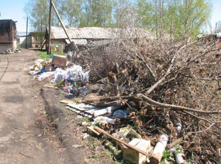 пер. Школьный погряз в мусоре